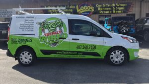 vehicle wrap commercial van Orlando